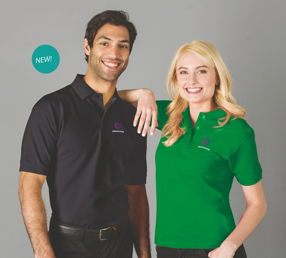 Men's & Women's Embroidered Value Polo  only $14.99 each!   With FREE shipping!