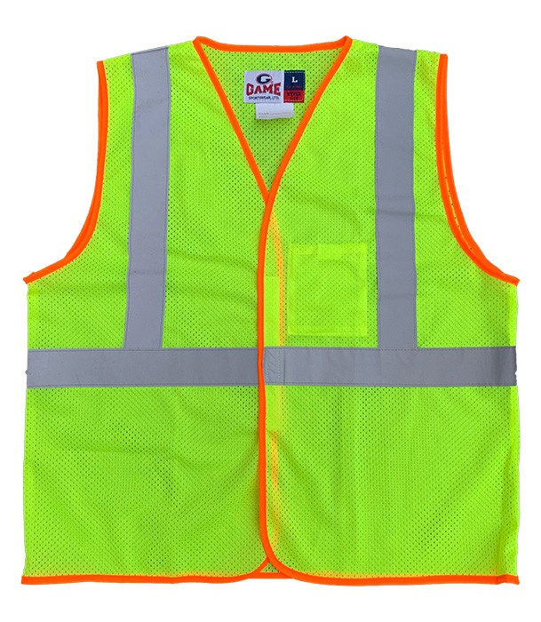 The Class 2 Econo-Safety Hi-Vis Mesh Vest with Reflective Tape  Only $9.00 each!