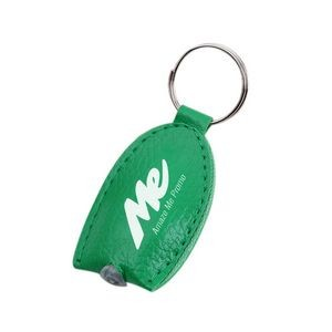 LED Light PU Leather Key Tag / Yellow Light