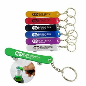 Skateboard Bottle Opener with key chain-Close out