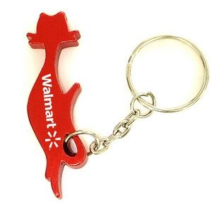 Cat Aluminum Bottle Opener with Key Chain (9 Week Production)