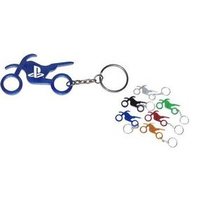 Motorbike Aluminum Bottle Opener with Keychain (9 Week Production)