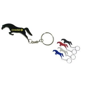 Horse Aluminum Bottle Opener with Keychain (9 Week Production)