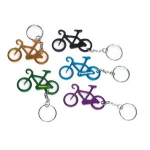 Bicycle Aluminum Bottle Opener with Keychain (9 Week Production)