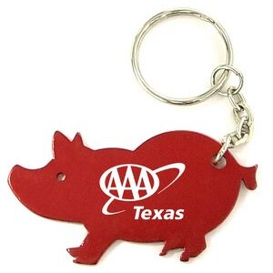 Pig Aluminum Bottle Opener with Key Chain (9 Week Production)