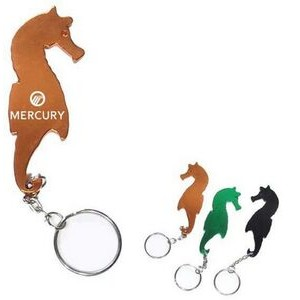 Sea Horse Aluminum Bottle Opener with Keychain (9 Week Production)