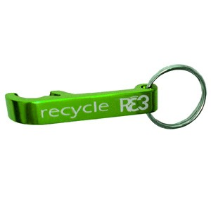 Green Bottle Opener Keychain