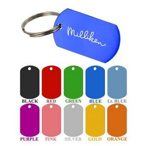 Aluminum Dog Tag Key Chain